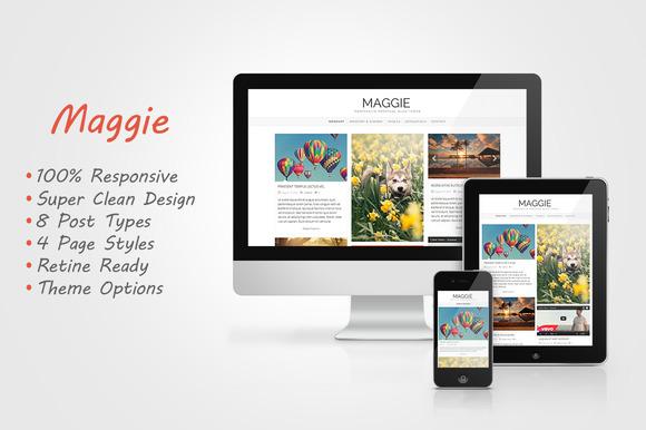 Maggie Responsive Blog Theme