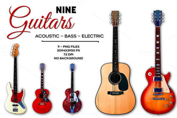 9 Guitars Basso Electric Acoustic