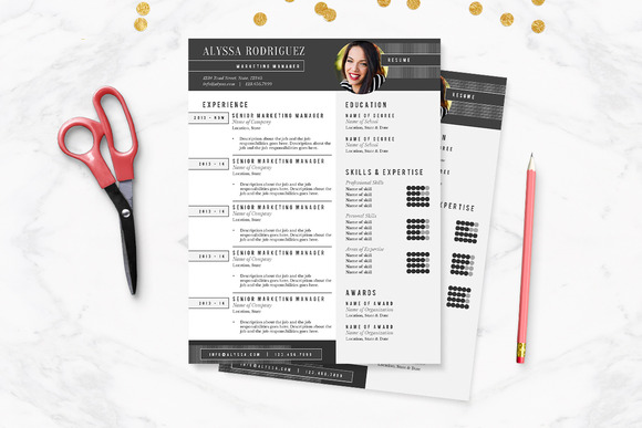 Black White Resume Template Pkg