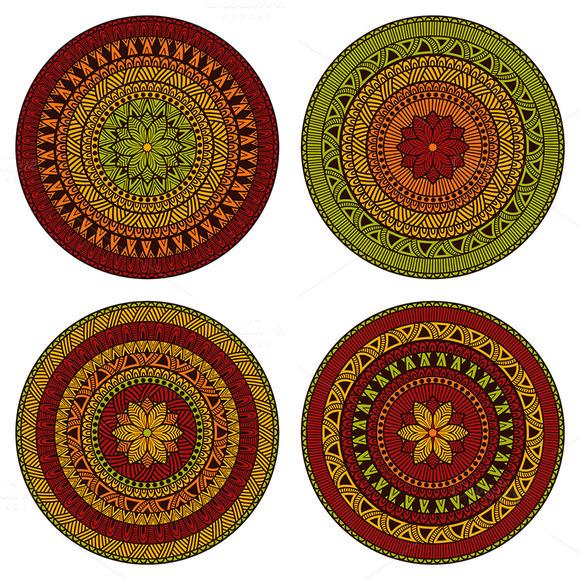 Vector Circle Ethnic Patterns
