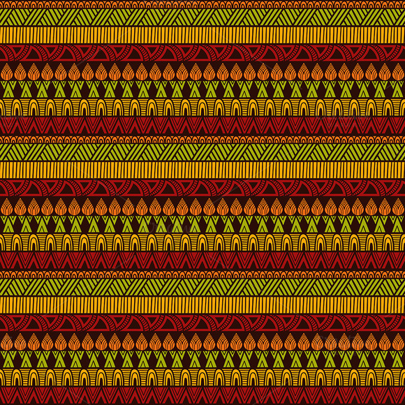Vector Square Ethnic Pattern