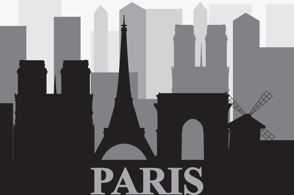 Vector Set With Landmarks Of Paris