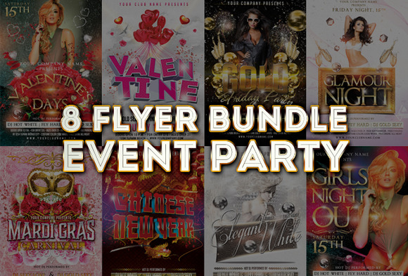 8 Flyer Bundle Event Party