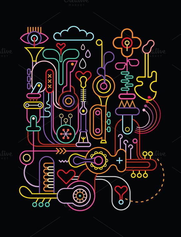 Abstract Art Vector Composition