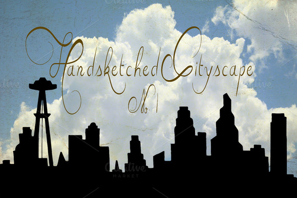 Handsketched Cityscape Clipart Set 1