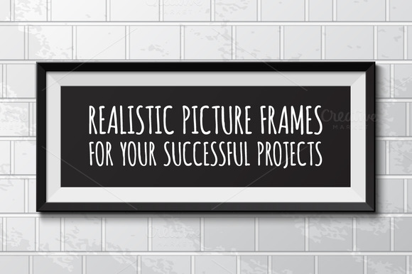 Set Of 10 Realistic Picture Frames