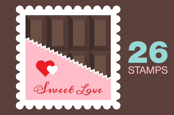 Valentines Day Love Stamps