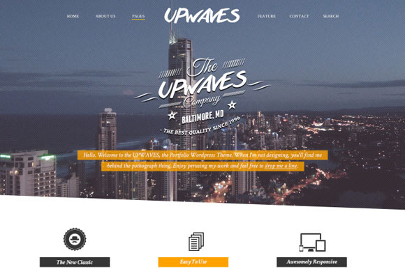 UPWAVES Creatives PSD Web Template