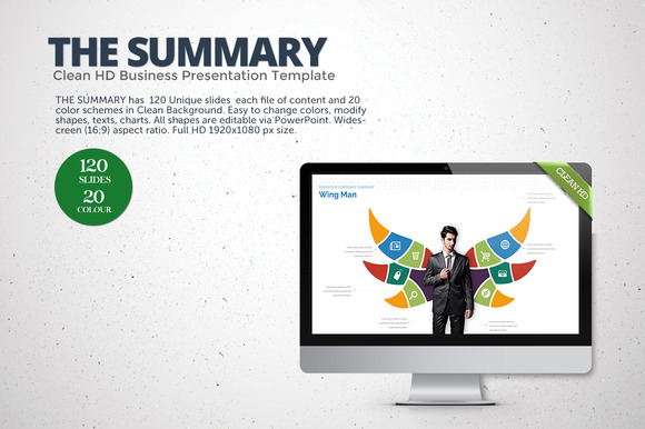 The Summary Clean HD PowerPoint
