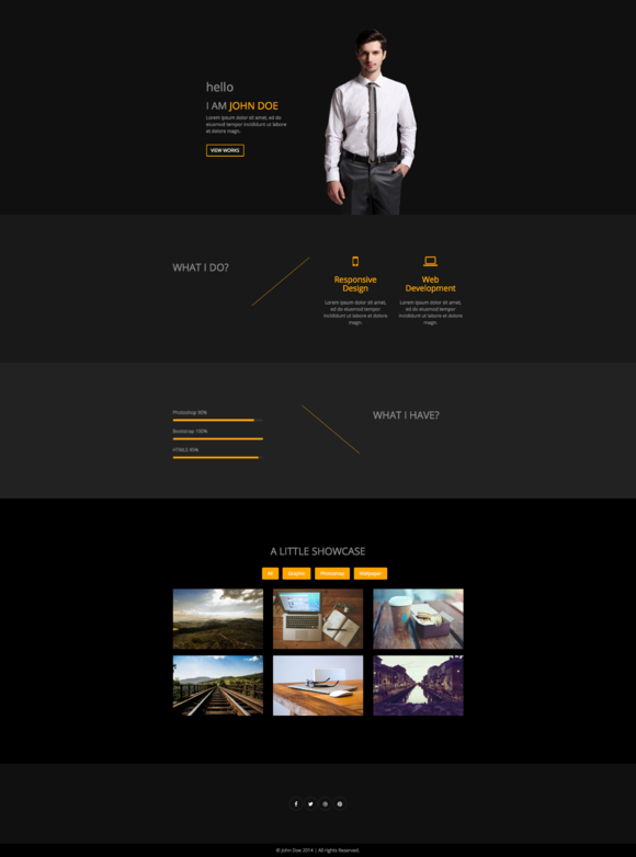 Creative One Page Portfolio