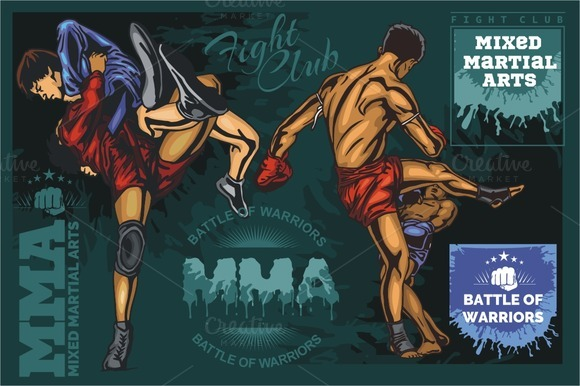 Mixed Martial Arts Vector Designs