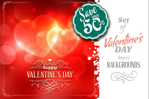 Set Of Valentine S Day Backgrounds