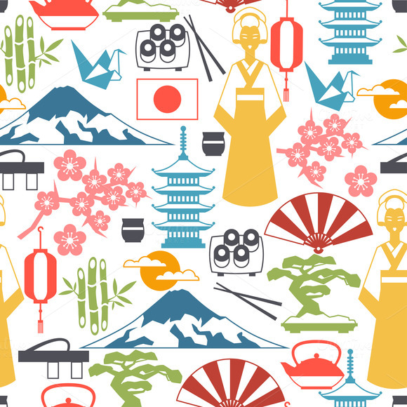 Japan Icons And Patterns
