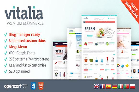 Vitalia OpenCart Template