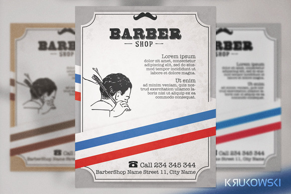 Barber Shop Vintage Flyer