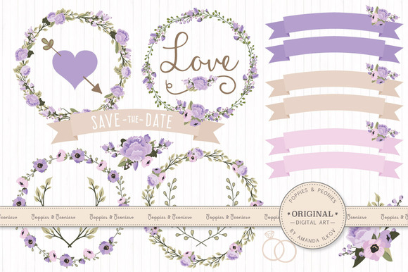 Wedding Floral Clipart Vectors