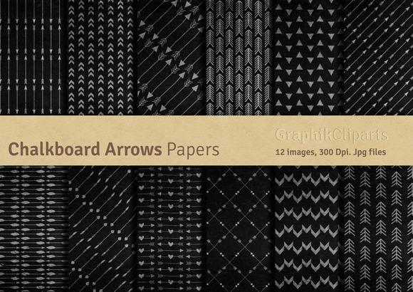 Chalkboard Arrows Digital Papers