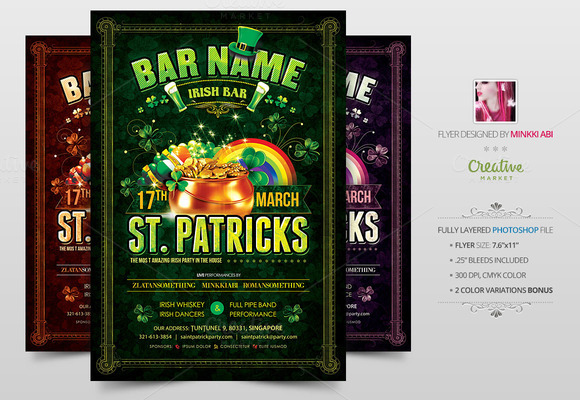 Saint Patricks Poster Flyer