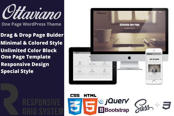 Ottaviano OnePage WordPress Theme