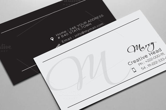 Simple Clean Business Cards