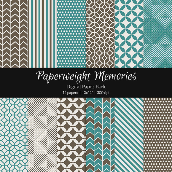 Patterned Paper By The Sea