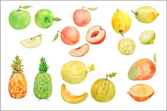 Watercolor Fruit Clipart Set3