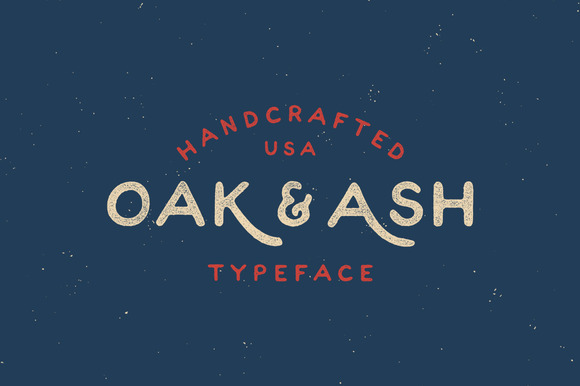 Oak Ash Hand Drawn Font