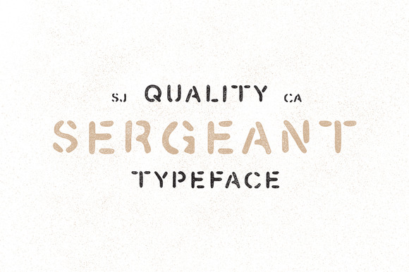 Sergeant Hand Drawn Stencil Font