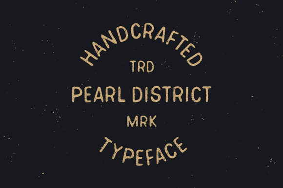 Pearl District Hand Drawn Font