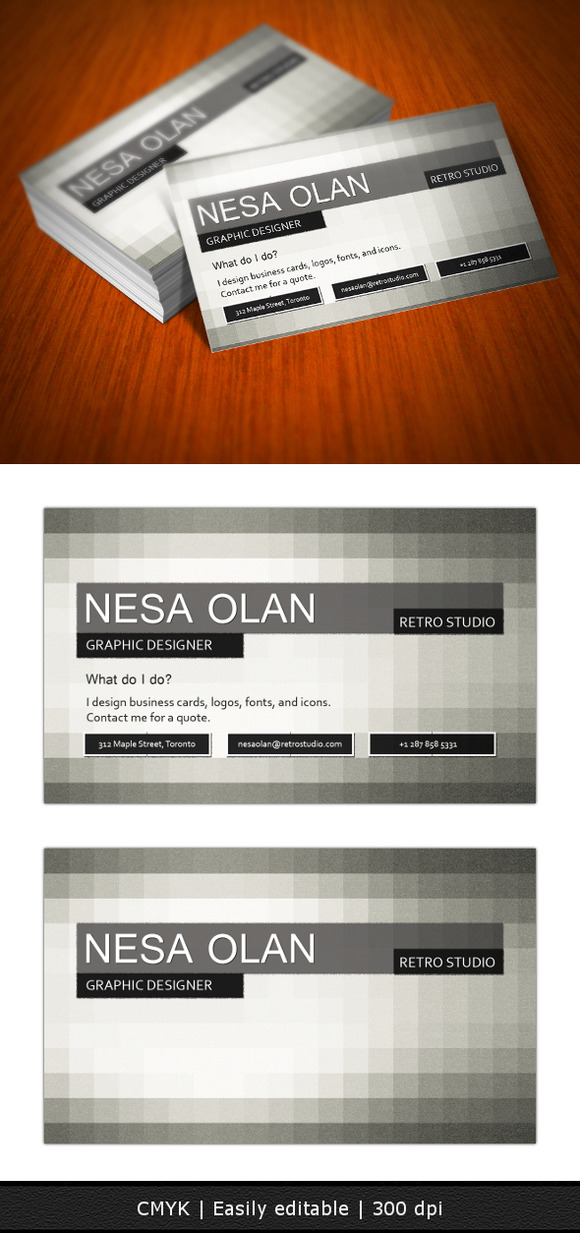 Retro Mosaic Business Card
