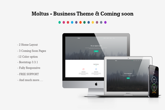 Moltus Onepage Coming Pages