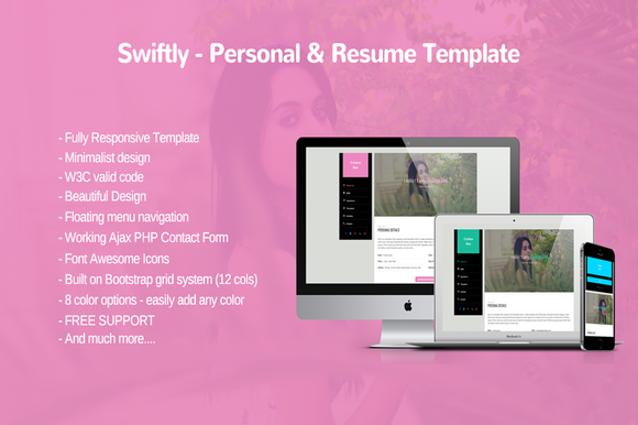 Swiftly Personal And Resume Templa