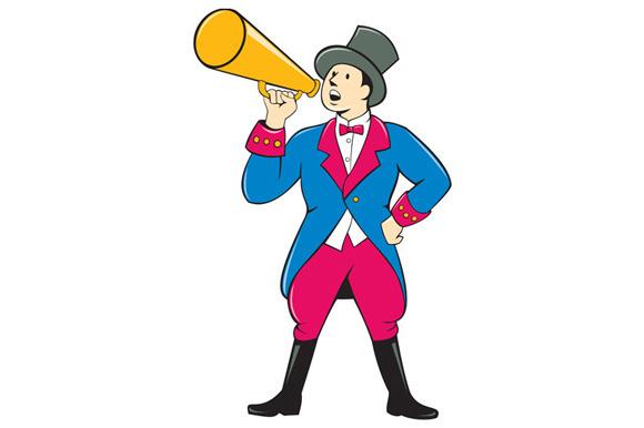 Circus Ringmaster Bullhorn Standing