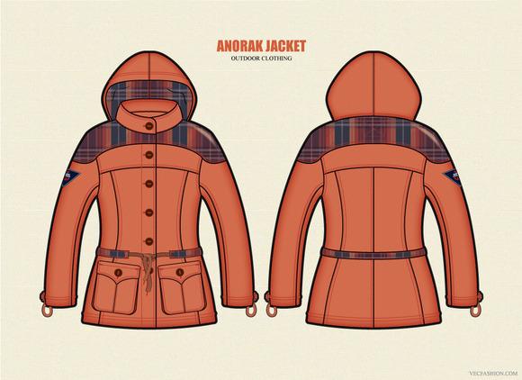 Women Outdoor Anorak Jacket Vector