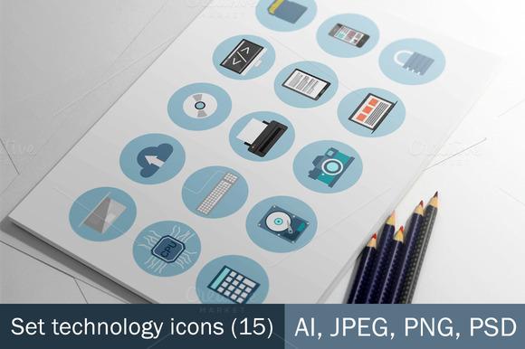 Set Technology Icons