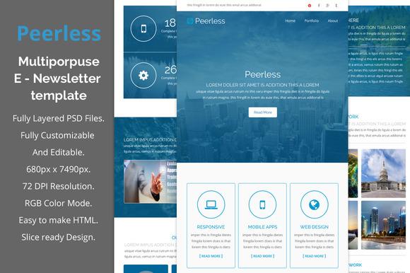 Peerless-multiporpuse Email Template