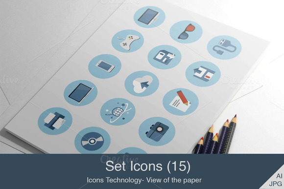 Set Icons Technology
