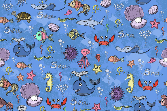 Pattern With Underwater World