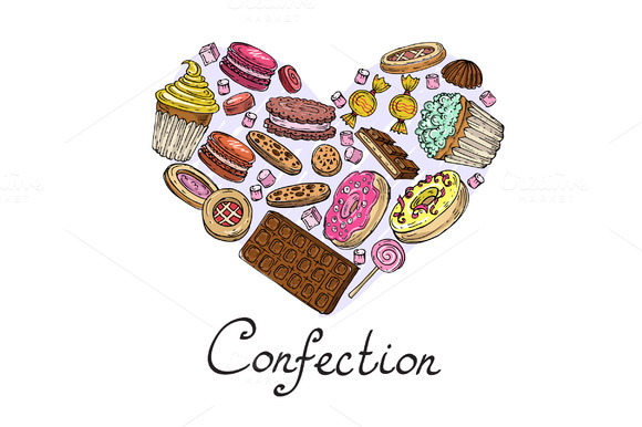 Stylized Heart With Confection
