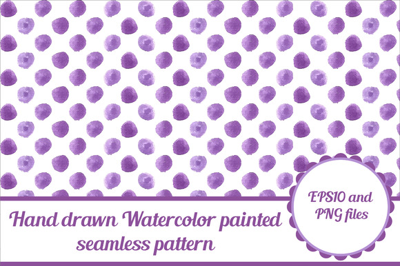 Violet Watercolor Seamless Pattern