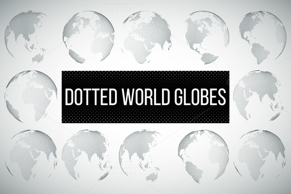 Dotted World Globes