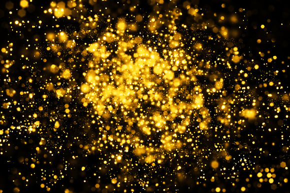 Metallic Gold Bokeh Background