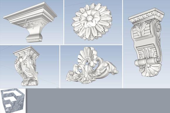 Column Details Decorations