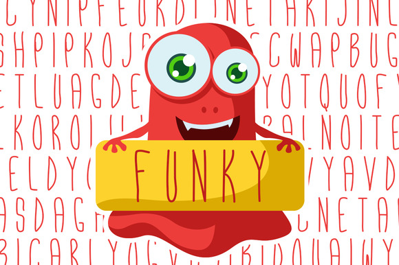 Funky Hand-drawn Font