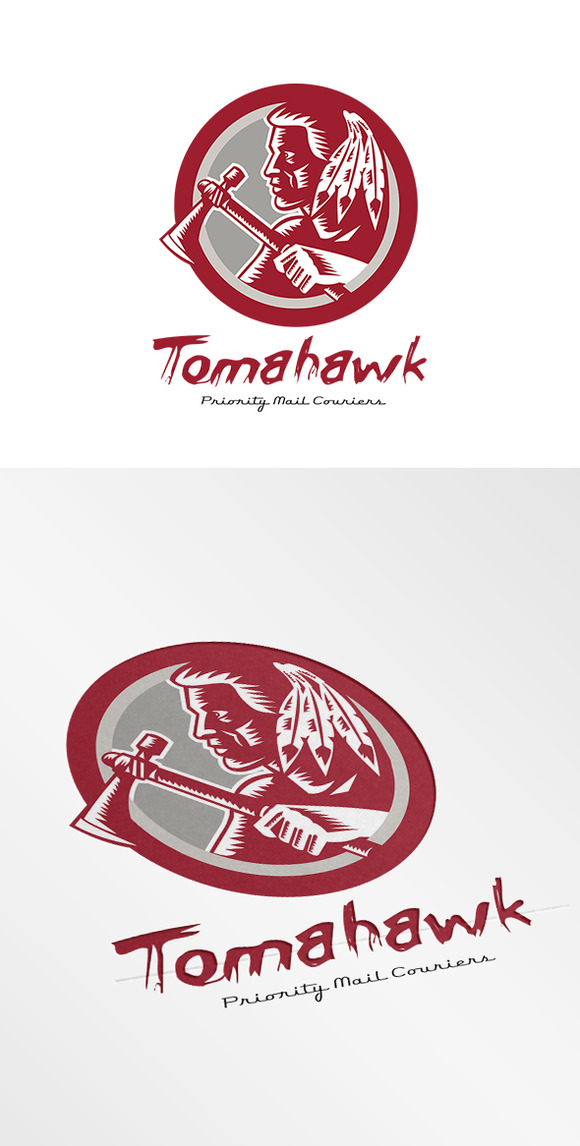 Tomahawk Priority Mail Couriers Logo