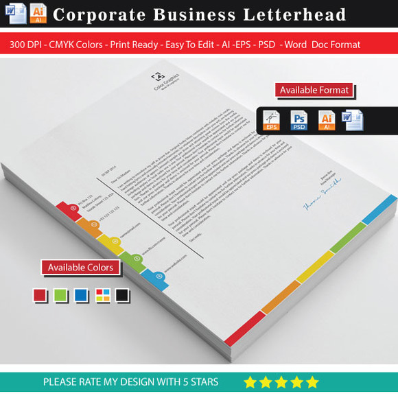 Unique Color Graphics Letterhead