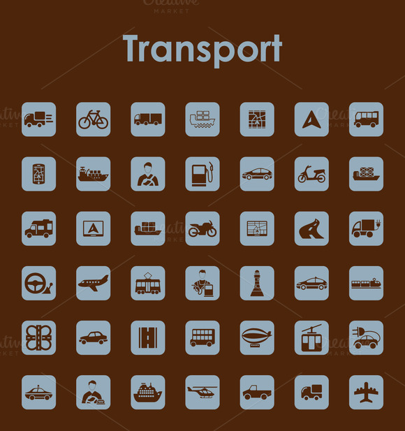 42 TRANSPORT Simple Icons