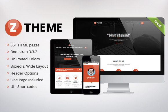 Z-Theme Multipurpose Bootstrap