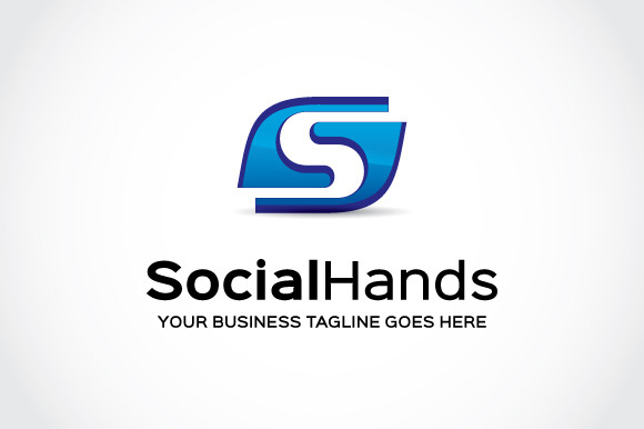 Social Hands Logo Template