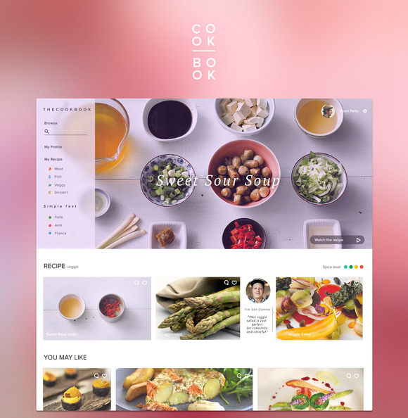 Food App Mockup Website